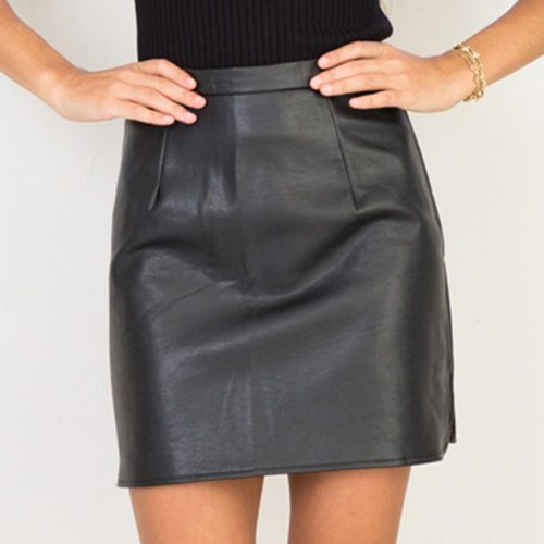 2016-New-Arrival-OL-PU-Leather-Skirts-High-Waist-Sexy-Vintage-A-Line-Office-Skirts-Womens (1)