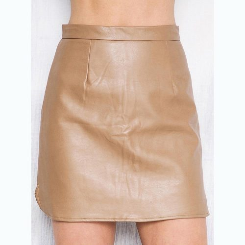 2016-New-Arrival-OL-PU-Leather-Skirts-High-Waist-Sexy-Vintage-A-Line-Office-Skirts-Womens