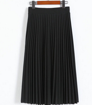 2016-spring-all-match-chiffon-skirt-waist-fold-slim-skirt-pleated-skirt-Department-summer-slim-skirt (1)