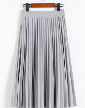 2016-spring-all-match-chiffon-skirt-waist-fold-slim-skirt-pleated-skirt-Department-summer-slim-skirt (2)