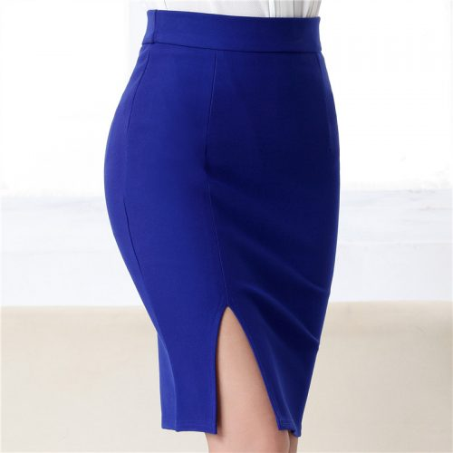 Fashion-autumn-2016-new-women-skirt-plus-size-high-waist-work-slim-pencil-skirt-open-fork