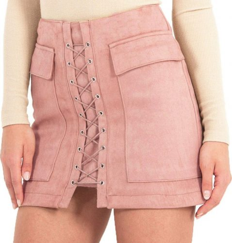 Smoves-Women-s-Vintage-High-Waist-External-Pocket-Tight-Suede-Lace-Up-Skirt-Autumn-Winter-Thick