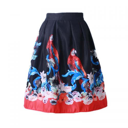 Z-KOZE-2016-Summer-Women-Vintage-Retro-Satin-Floral-Pleated-Skirts-Audrey-Hepburn-Style-High-Waist (7)